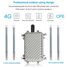 High Speed Outdoor 4G LTE Wireless AP Waterproof Sim Card Wifi Router Wireless Hotspot CPE RJ45 port Modem Extender Repeater(China)