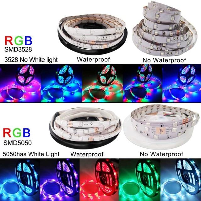 5M 10M 15M WIFI LED Strip RGB SMD 3528 5050 12V Flexible Home Decoration Tira RGB LED Light Strip Waterproof 4