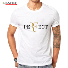 2019 New Fashion Roger Federer RF Print T-Shirt Men Short Sleeve Tshirts Tops Hip Hop T shirt homme Man cotton casual shirts