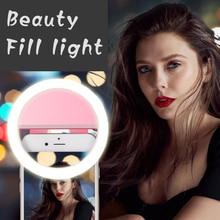 Light-Lamp Smartphone Led-Bulbs Ce for Photo-Camera Clip-Lens Selfie-Ring Dry-Battery