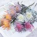 Искусственные цветы, короткая ветка, краб, коготь, 2 вилки, декоративная Рождественская гирлянда, ваза для дома, свадебное украшение, искусст...