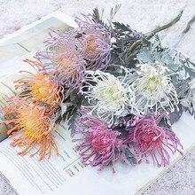 Flores artificiais ramo curto caranguejo garra 2 garfo pincoxim natal garland vaso para decoração de casamento casa falso plantio
