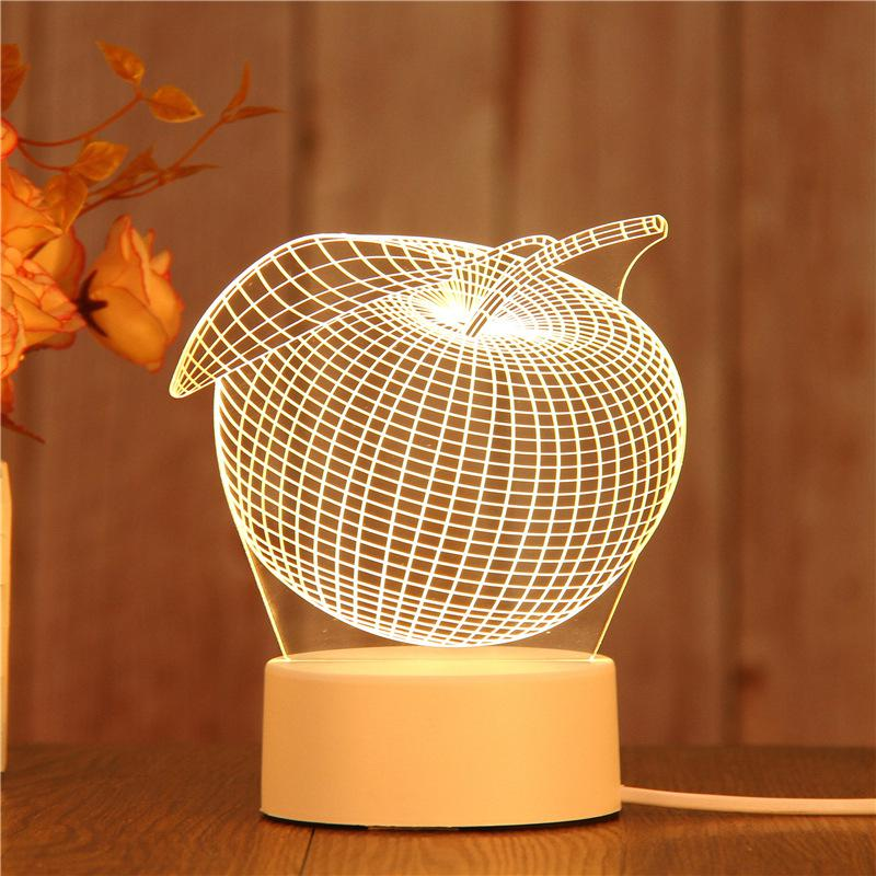 Creative Gifts Of Led Night 3d Table Lamp Direct Sales Of Custom Pattern Manufacturer Light Party Decoration Lamp