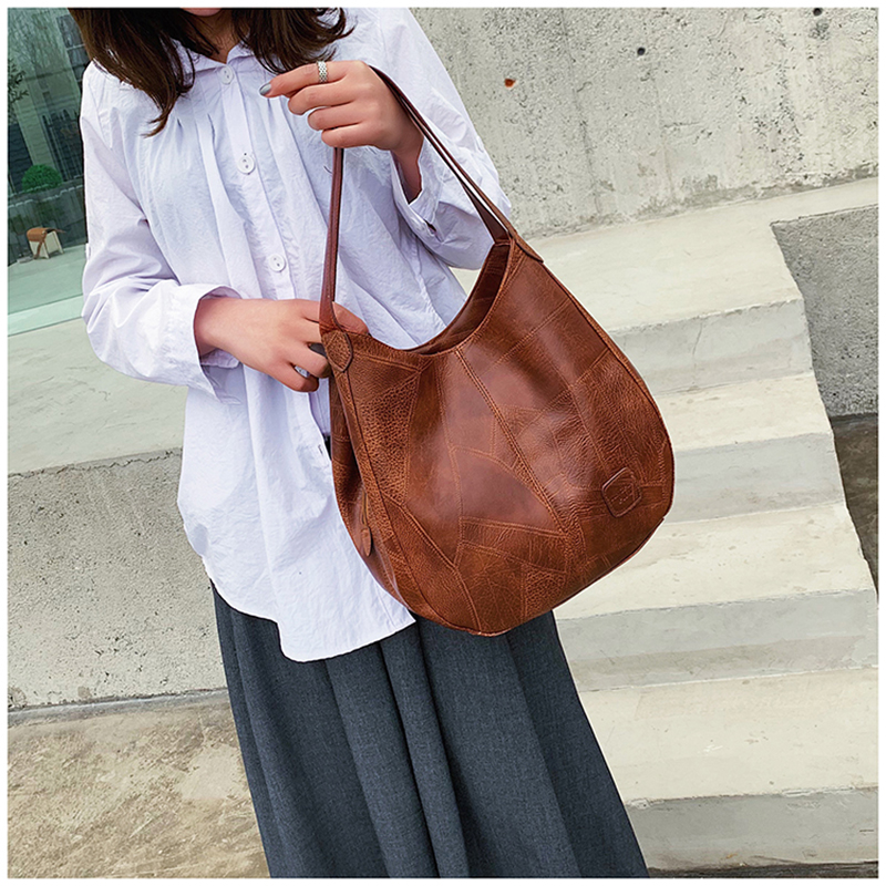 Image 3 - Vintage Women Hand Bag Designers Luxury Handbags Women Shoulder Bags Female Top handle Bags Fashion Brand leather HandbagsShoulder Bags   -