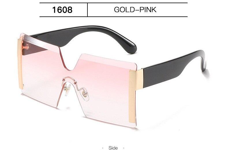 Luxury Brand Women's Sunglasses Square Sunglass Lady Designer 2021 trend Cool Vintage Retro Sun Glasses Rimless Shades For Women (12)