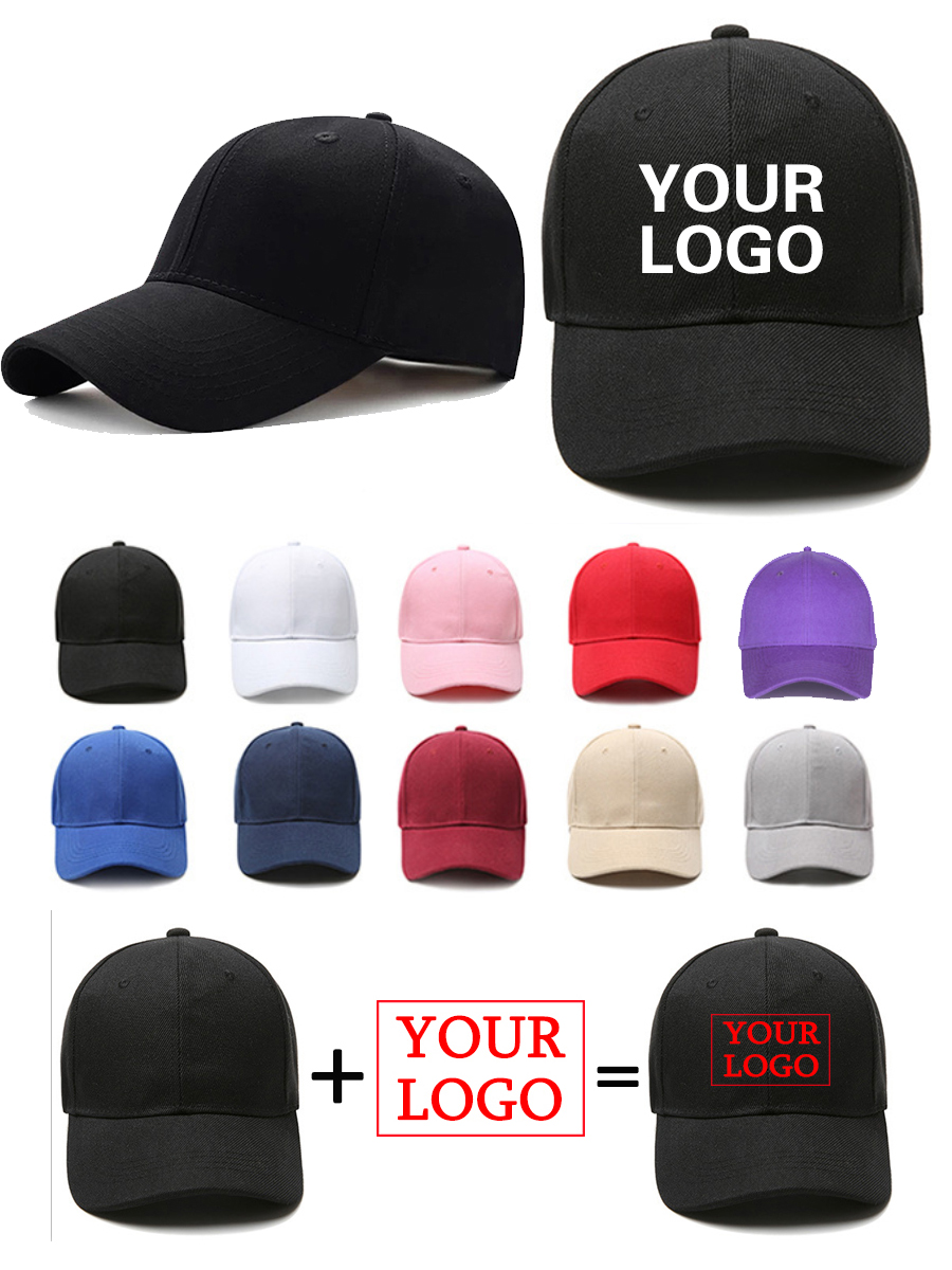 Black Cap Snapback-Caps Baseball-Cap Gorra Text Solid-Hats Print-Logo Photo-Embroidery