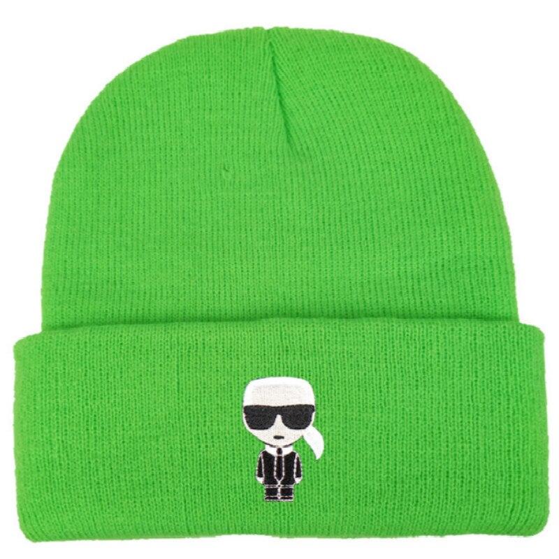 Designer Karl Winter Knitted Hat Embroidery Cartoon Women Winter Hat Cap Autumn Men Skullies Beanie Outdoor Warm Ski Hat Gorras