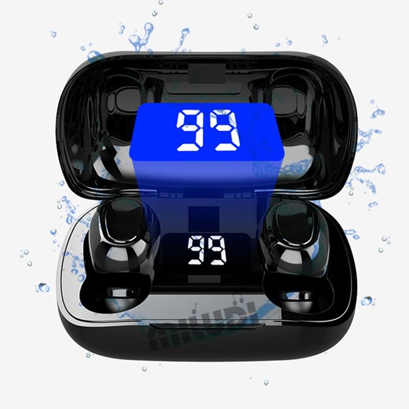 L21 pro tws bluetooth fones de ouvido sem fio esporte digital dispaly 9d cinema efeito para smartphones xiaomi música fones de ouvido