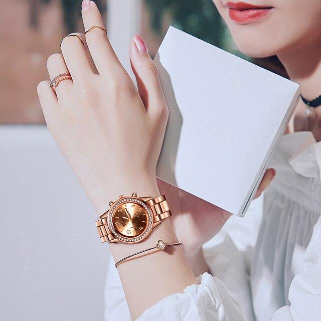 New Watch Women Classic Geneva Luxury Ladies Watches Womens Full Steel Crystal Relogio Feminino Reloj Mujer Metal Wristwatch 5