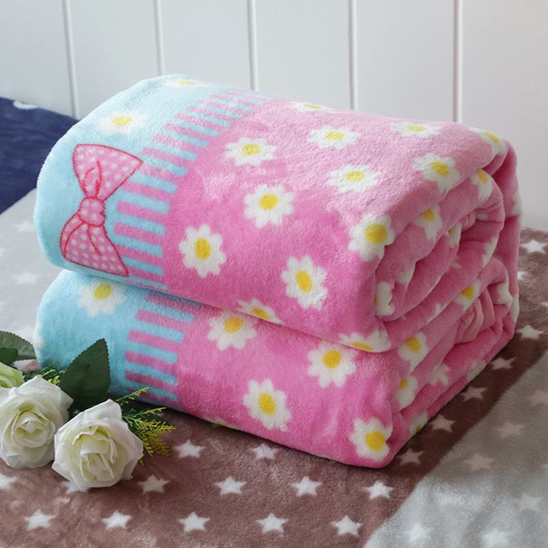 Sheet Bedspread Sofa Plaid Throw Light Thin 70*100cm Micro Plush Fleece Blankets Soft Warm Coral Fleece Blanket Winter-3