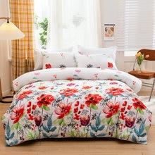 花柄キルティング布団枕装飾ベッドカバー毛布キング女王フルツインサイズポリエステル布団大人のベッド