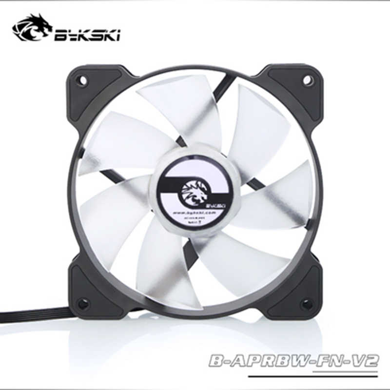Ventilador de radiador Bykski para refrigeración por agua, ventilador de A-RGB para ordenador PC, luz LED de 120mm, controlador de 5v, soporte enfriador para disipador térmico, velocidad de ajuste