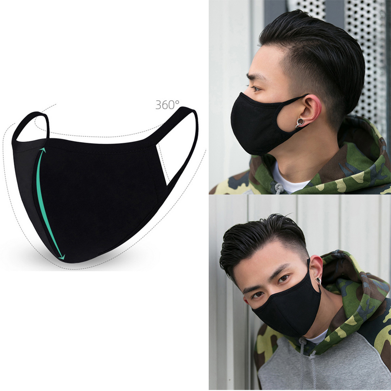 2020 Dust-proof PM2.5 Mouth Mask KN95 Anti Pollution Breathable Face Mask Cotton Washable Respirator Mouth-muffle Unisex