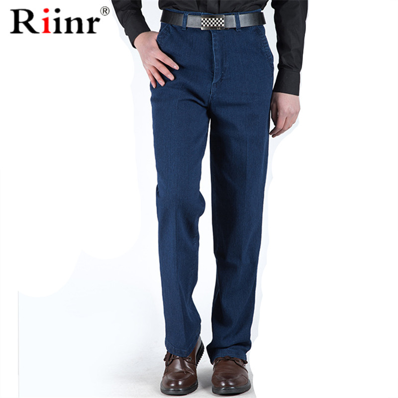 Riinr 2020 New Classic Men's  Jeans Casual Jeans Male Business Style Trousers Fashion Man Straight Pants Size Puls