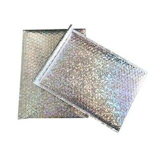 Image 4 - Sobres acolchados de papel dorado con burbujas para envíos, 50 Uds., CD/CVD, bolsa de regalo, sobre de correo de burbujas, 15x13cm + 4cm
