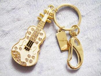 NewvCrystal Guitar 32GB 16GB 8GB Jewelry Usb Flash Drive 1TB 2TB Jewelry Usb Memory Stick Pendriver Gift Gadget Pen Drive 64GB