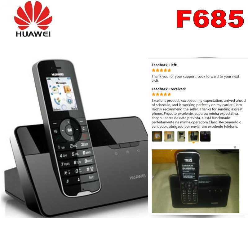 Cordless Phone & Handsets Huawei F685 DECT Desktop Home Phone W/ Sim Card Slot