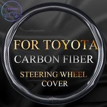 Sợi Carbon Bọc Vô Lăng Cho Xe Toyota Camry Thái Tràng Hoa Cao Cấp RAV4 Đa Năng 38Cm Chống Trơn Trượt Tốt Touchness