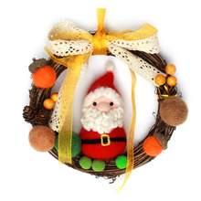 Рождественский венок материал из шерстяного войлока сумки DIY гирлянда Шерсть Войлок набор ручной работы шерстяной войлок diy пакет для Рождественского украшения