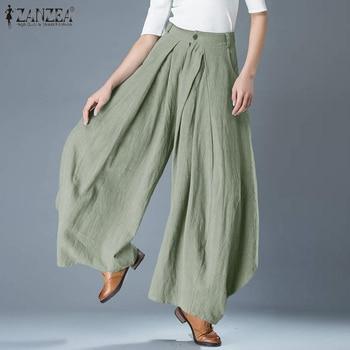 Plus Size Elegant Solid Wide Leg Pants 1