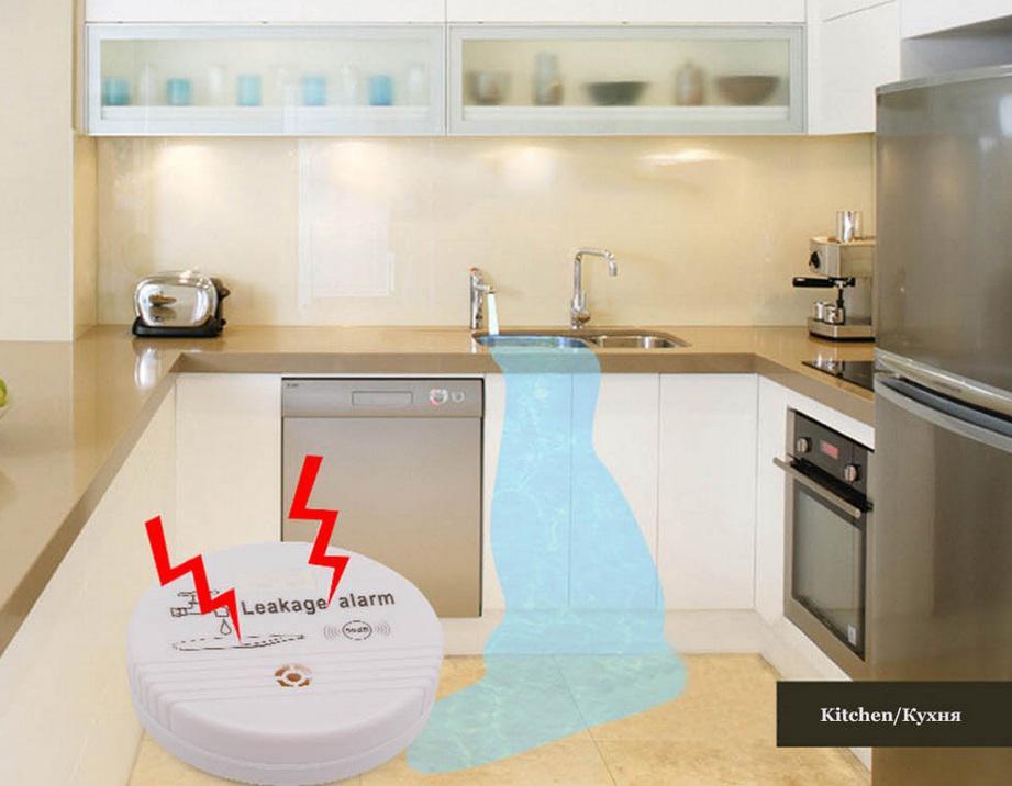 Water Leakage Sensor Alarm Detector 90dB Voice Wireless Water Leak Detector Home Security Alarm System