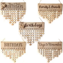 Family and Friends Wooden Birthday Reminder Calendar Birthday Tracker Wall Hanging Plaque Board Sign DIY Home Decoration Gifts