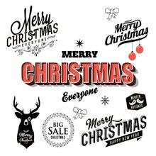 ZhuoAng Merry Christmas Transparent seal / sealed DIY scrapbook album decoration card seamless