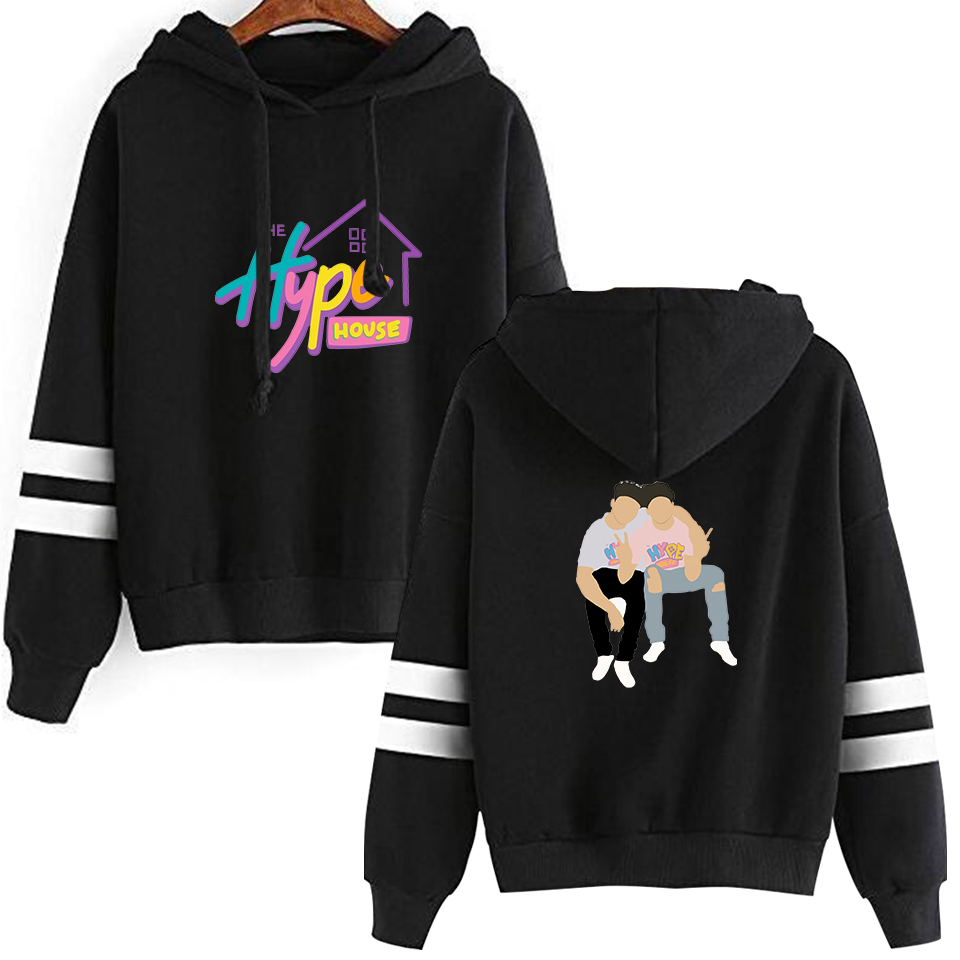 The Hype House Tony Harajuku Lopez Brothers Parallel Bars Sleeves Hoodie Sweatshirts 2020 New Logo Clothes Loose Casual Winter