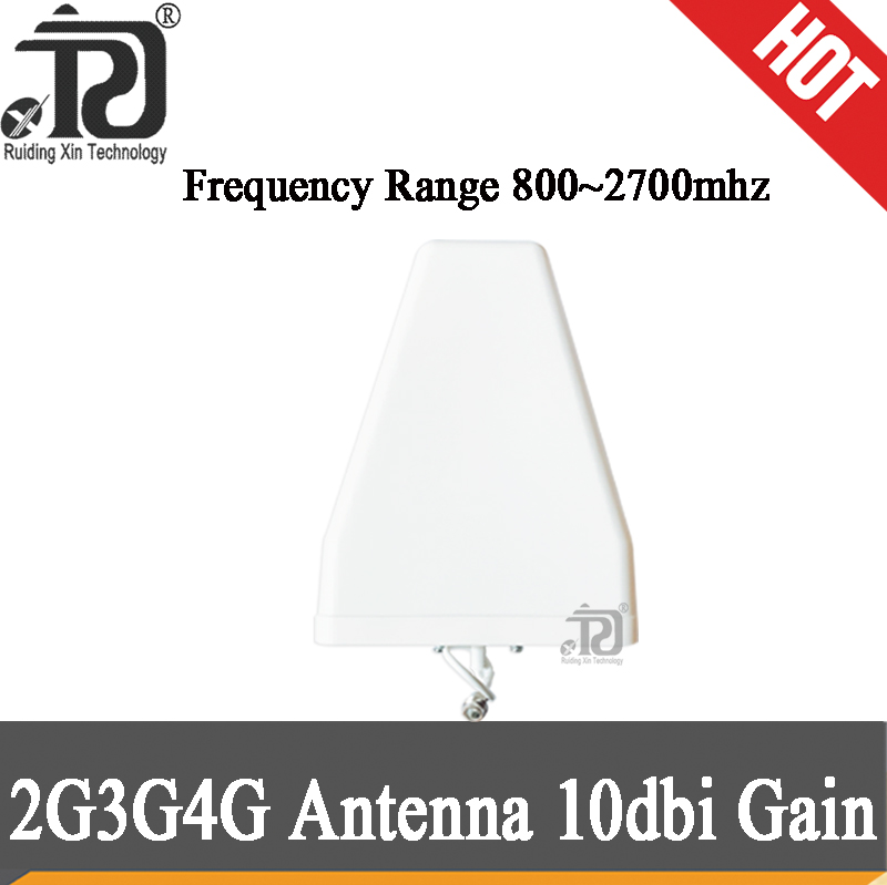 2G 3G 4G Antenna 10dBi Gain 800~2700MHz Outdoor LPDA Antenna N-Female For 2G 3G 4G Mobile Signal Repeater Cellular Booster