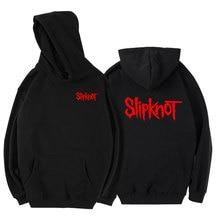 Для мужчин и женщин Письмо Рок Панк Рок-Группа Slipknot хип-хоп Уличная толстовки хлопок с длинными рукавами Спортивная одежда для бега