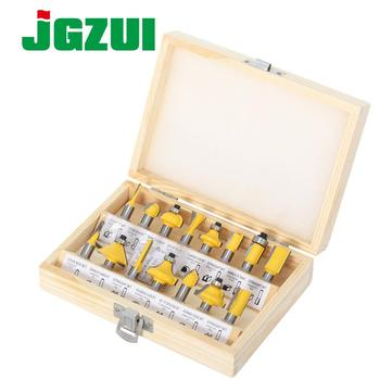 15pcs 8mm shank Router Bit Set Trimming Straight Milling Cutter for Wood Bits Tungsten Carbide Cutting Woodworking - discount item  50% OFF Machinery & Accessories