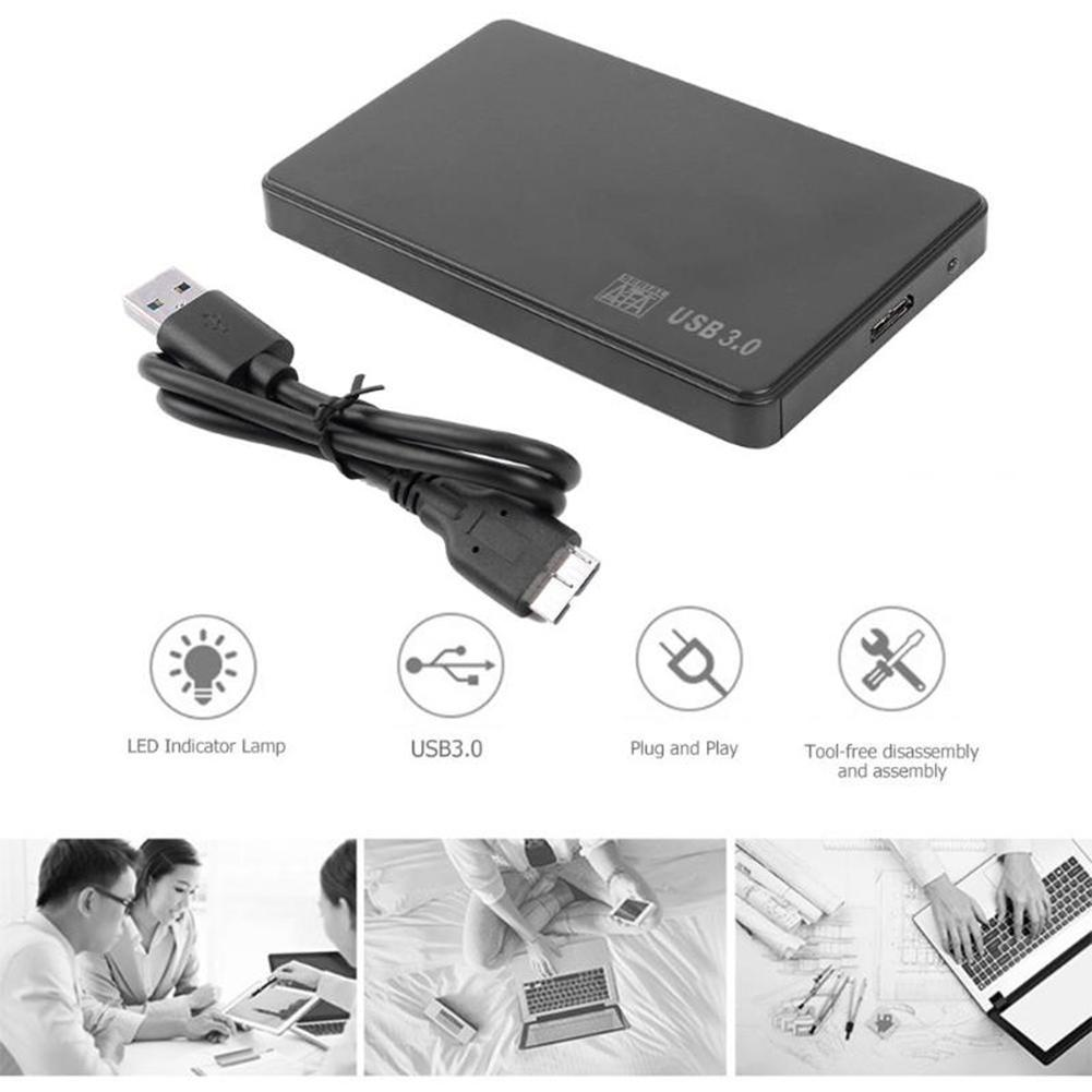 Portable 5Gbps External Hard Disk <font><b>USB</b></font> <font><b>3.0</b></font> <font><b>2.5</b></font> inch SATA External Hard Disk <font><b>HDD</b></font> SSD <font><b>Case</b></font> Box for PC Laptop disco duro <font><b>externo</b></font> image