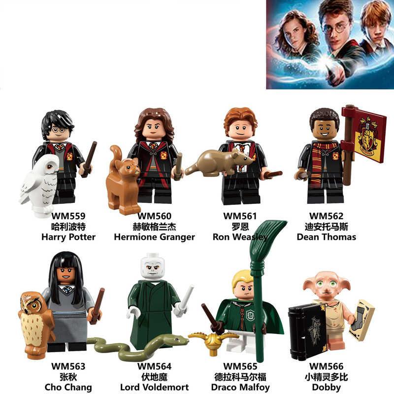 Harri Figura Magica Rubeus Dobby Hagrid Luna Seamus Voldemort Silente Moody Finnigan Hermione di Mattoni legoingly Blocchi di Costruzione