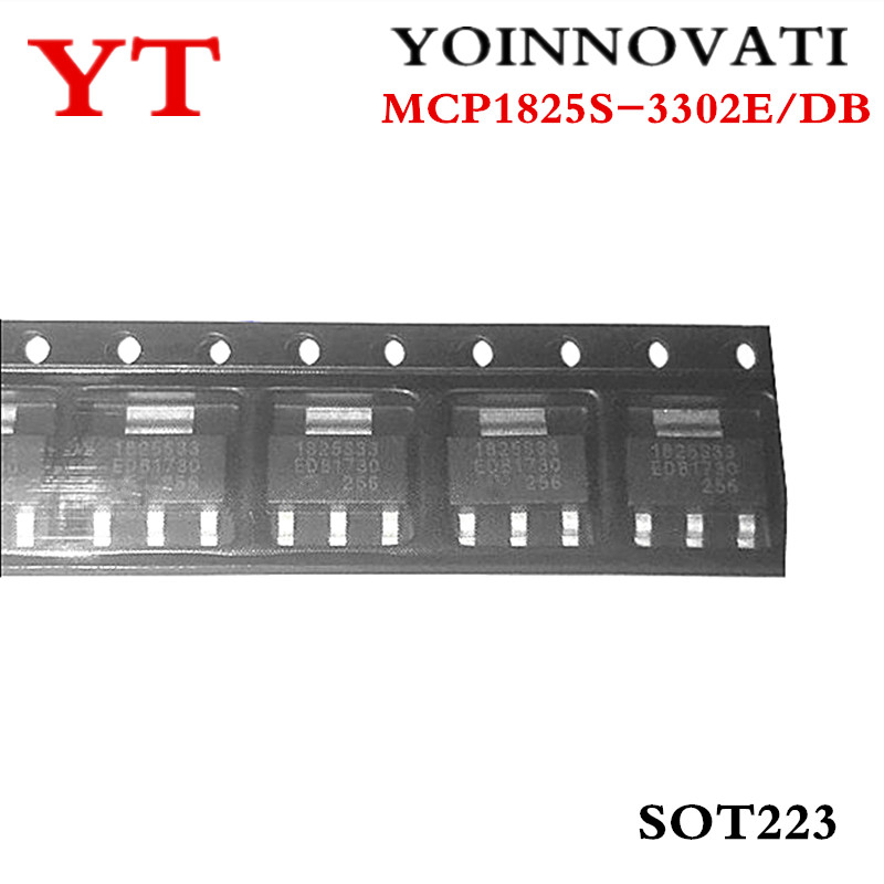 10pcs/lot MCP1825S-3302E/DB MCP1825S-3302E MCP1825S 1825S-3302 1825 SOT223  IC Best Quality