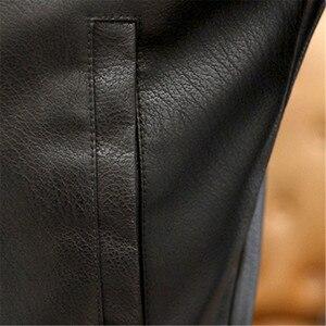 Image 4 - Nowe męskie kurtki skórzane motocykle brytyjska biznesowa moda codzienna wysokiej jakości wojskowa kurtka taktyczna PU męska kurtka Bomber