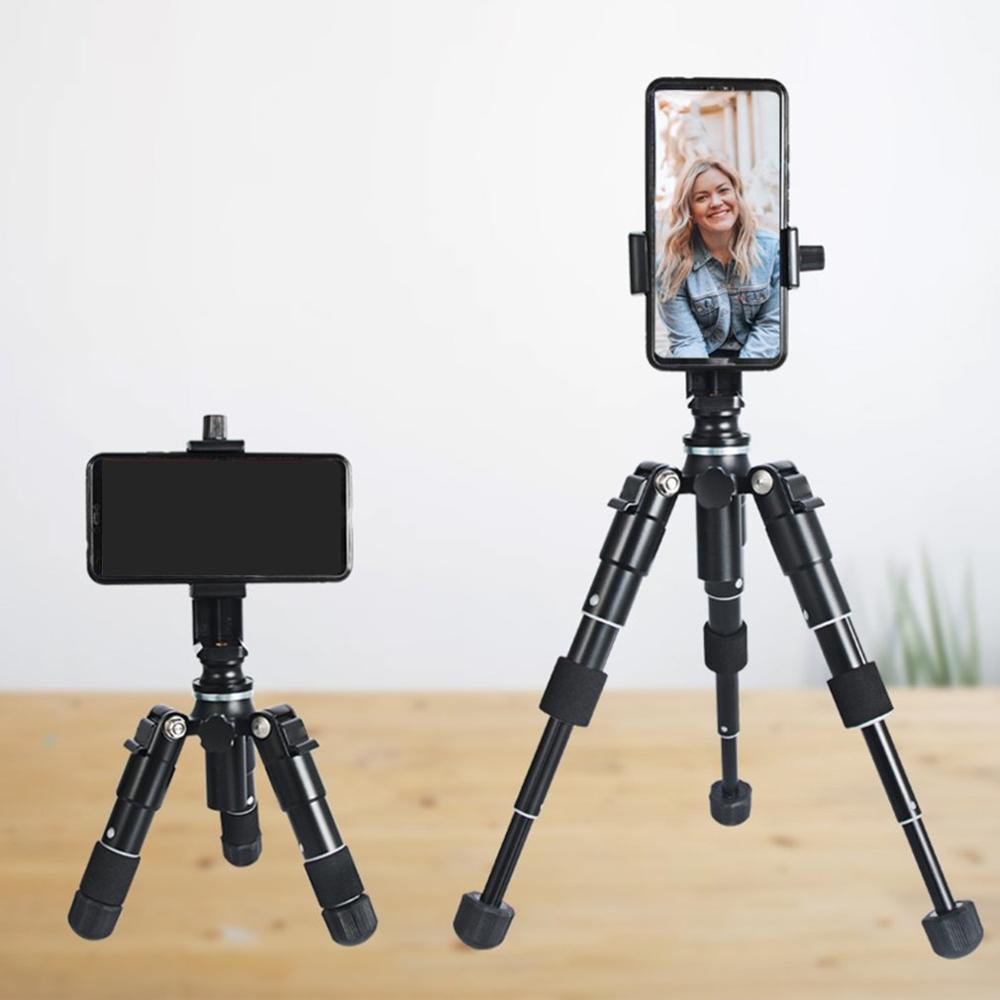 Support de support de téléphone portable pour mini-trépied à tête sphérique pour appareil photo reflex numérique