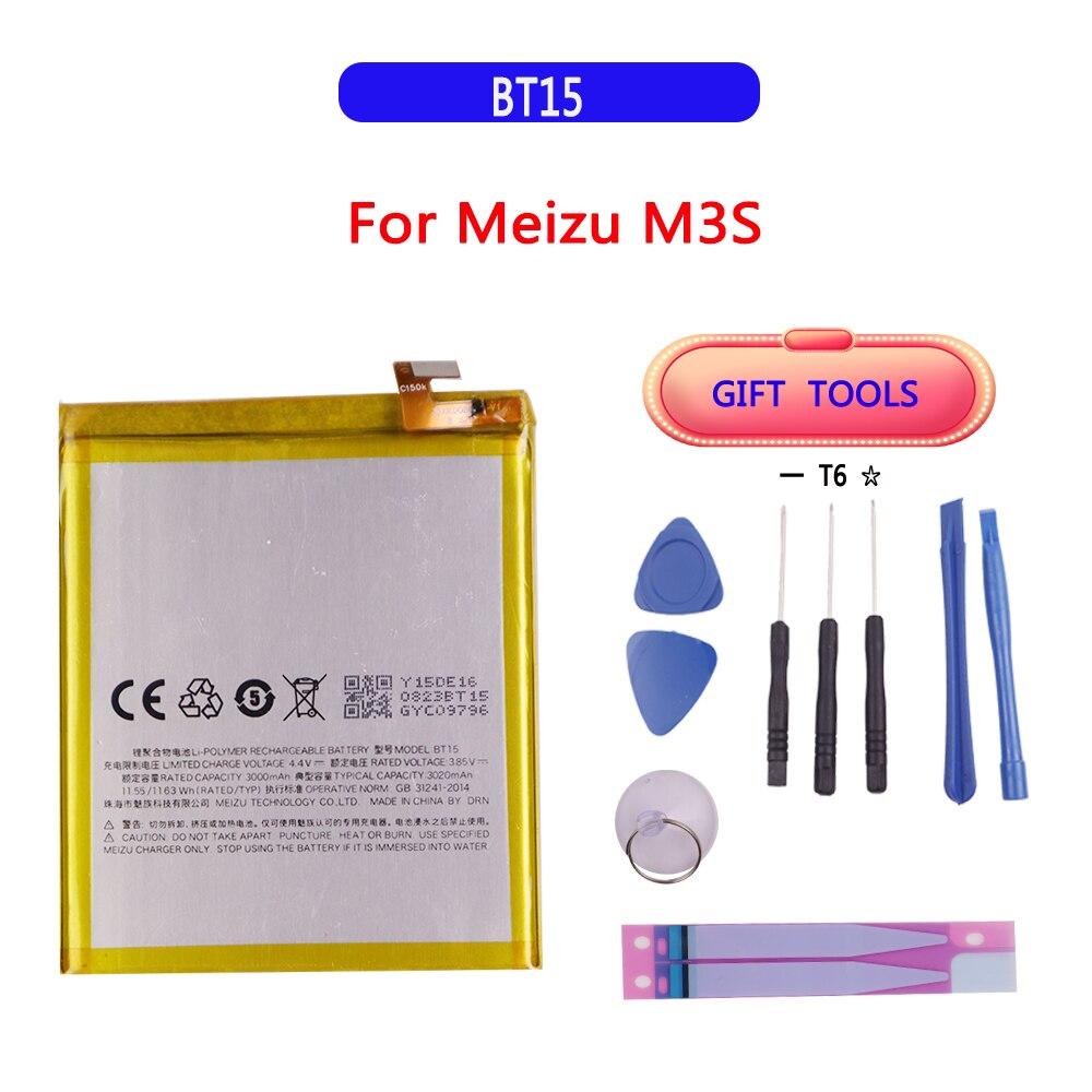 Original High Quality 3020mAh BT15 Battery For MEIZU M3S Battery 4000mAh BT61 For Meizu L Version M3 Note L681H Battery