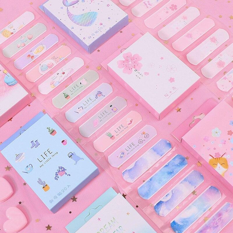 20 teile/los Schöne Nette Band Aid Einweg Wunde aufkleber kawaii Erste Hilfe Notfall Kit Für Kinder Kinder Klebstoff Bandagen hause