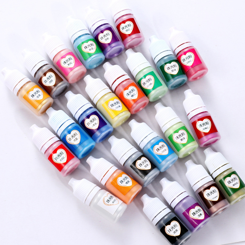 Pigment Sewing Supplies 5ml Metallic 24 Color Crafts Pigment Jewelry Epoxy Rainbow UV Resin Pearl Mica DIY Crafts 1 Box New