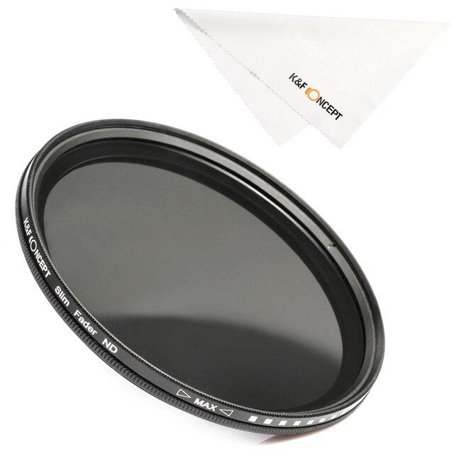 K&F CONCEPT 37-82mm ND2 to ND400 ND Lens Filter Fader Adjustable Neutral Density Variable 49mm 52mm 58mm 62mm 67mm 77mm 5