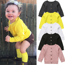 Cardigan Top-Shirt Baby-Girls Sweater Outfit Costume Knitted Colorful 0-24M Autumn Kids