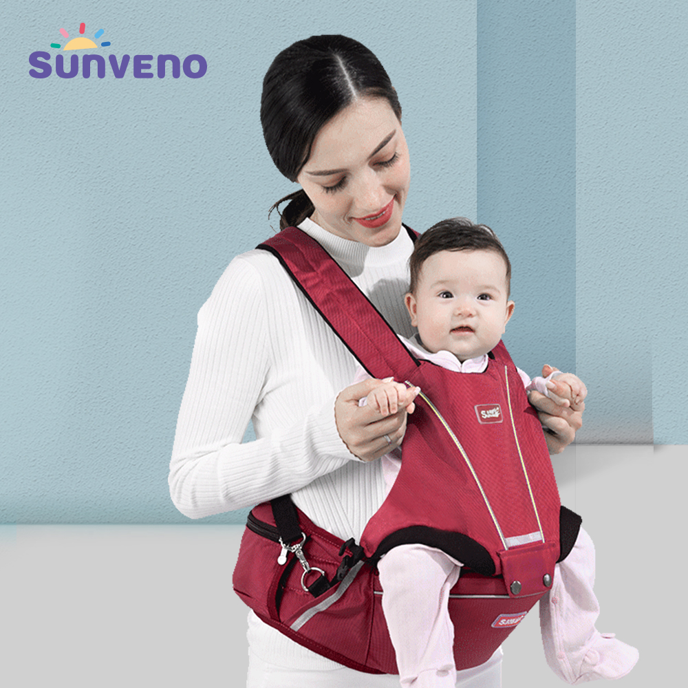 Sunveno Ergonomic Baby Carrier 0-36M Infant Baby Hipseat Carrier Front Facing Ergonomic KangarooHigh-quality Brand Clearance