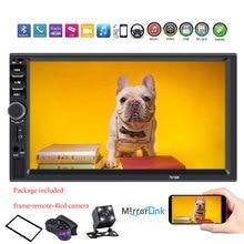 """2 din Автомобильная Радио """" HD Авторадио мультимедийный плеер 2DIN сенсорный экран Авто аудио стерео MP5 Bluetooth USB TF FM камера 7018b"""