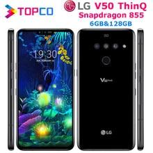 Lg smartphone v50 thinq v500n, telefone celular, desbloqueado, lte, android, snapdragon 855, octa core, tela 6.4