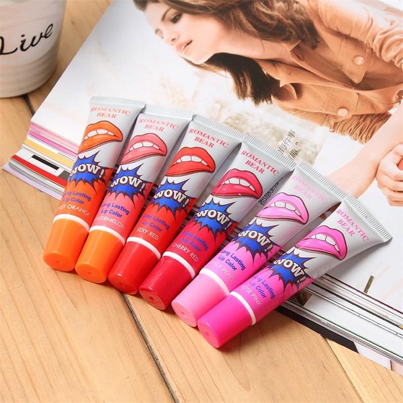 Amazing 6 Colors Peel Off Liquid Lipstick Waterproof Long Lasting Lip Gloss Lint Mask Makeup Tattoo Lipgloss Lipsticks Cosmetic 4