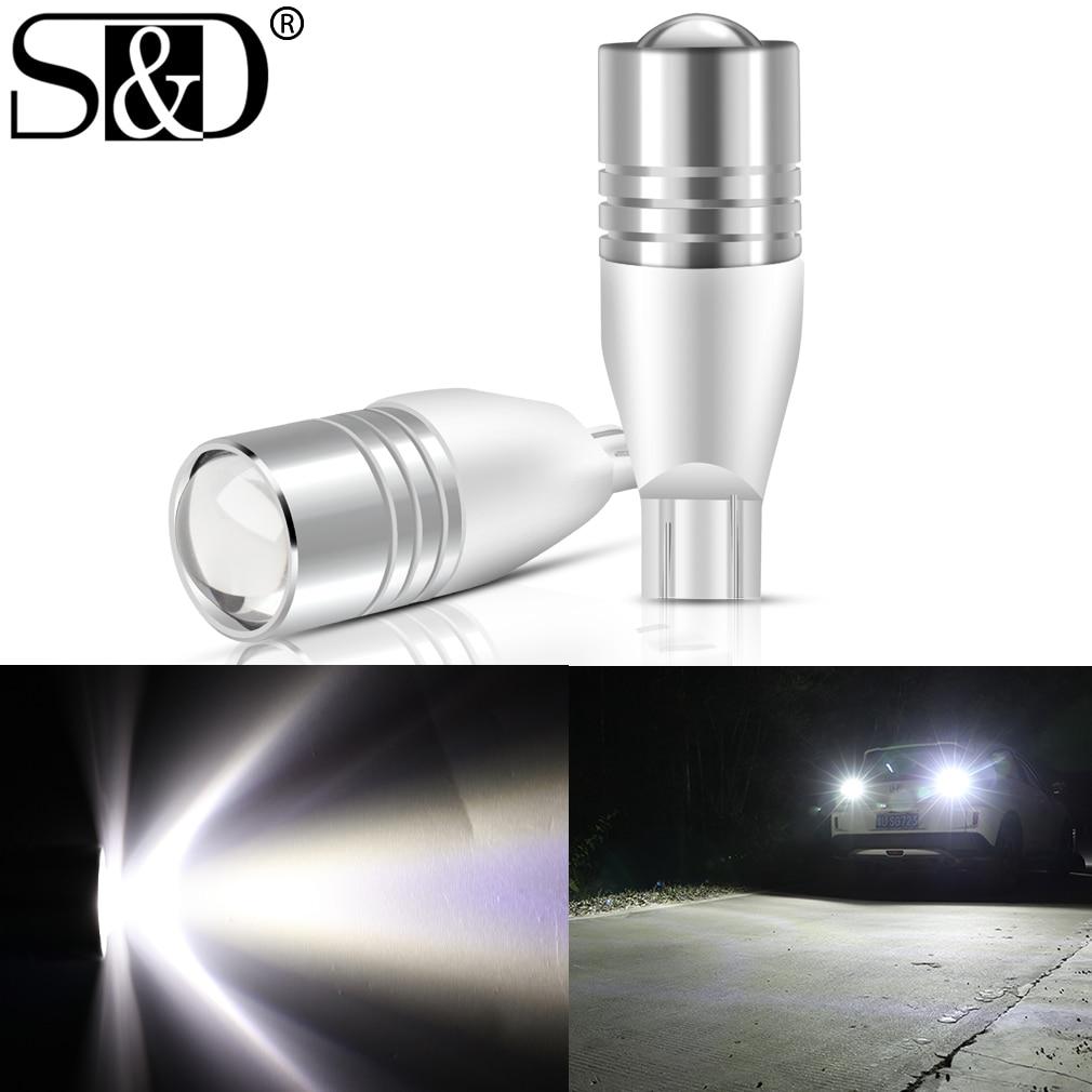 2 шт. T15 W16W светодиодный лампы 921 912 лампа обратный светильник с can-bus Проект Светодиодный автомобиль 6000 К белый свет для Audi BMW VW Toyota Kia Ford