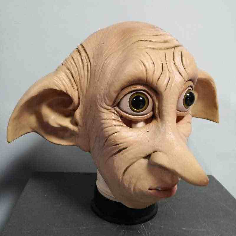 Cosplay Dobby masque en Latex Style Animal, accessoires pour coiffure, Costume, carnaval d'halloween