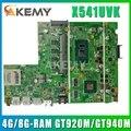 Материнская плата Akemy X541UVK для Asus X541UV X541UJ F541U R541U материнская плата для ноутбука i3 i5 i7 CPU 4G / 8GRAM GT920M / GT940M / 2G