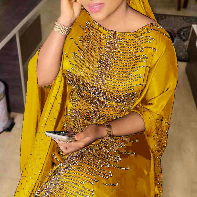 Vestidos africanos largos para mujeres Dashiki ropa Africana Abaya Dubai Hijab vestido musulmán Kaftan vestido africano de alta calidad para dama