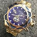 Temeite мужской роскошный бренд часов дизайн золотые водонепроницаемые кварцевые часы мужские полностью стальные большие часы наручные часы ...